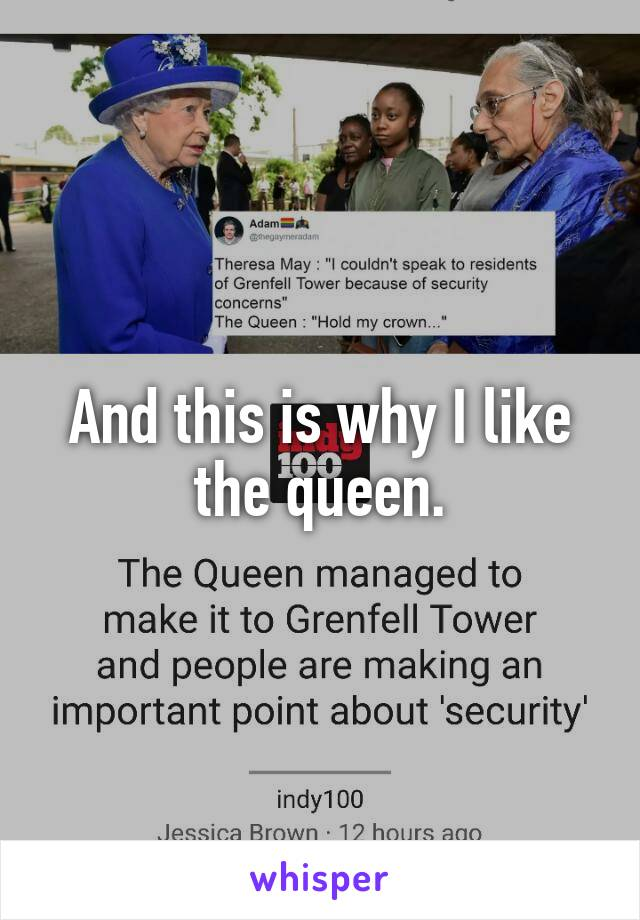 And this is why I like the queen.