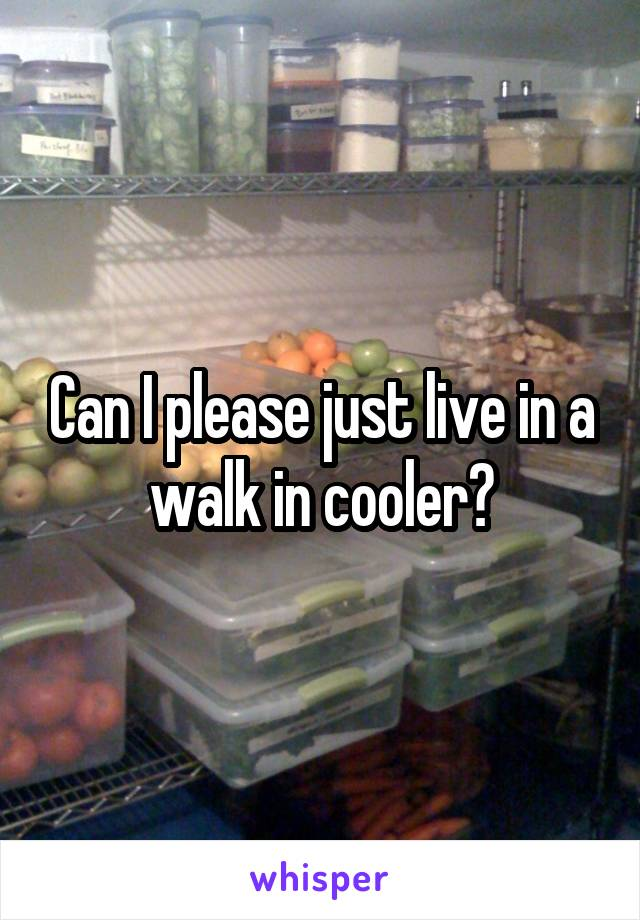Can I please just live in a walk in cooler?
