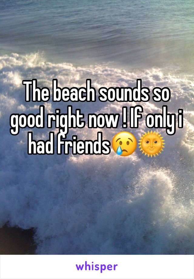 The beach sounds so good right now ! If only i had friends😢🌞