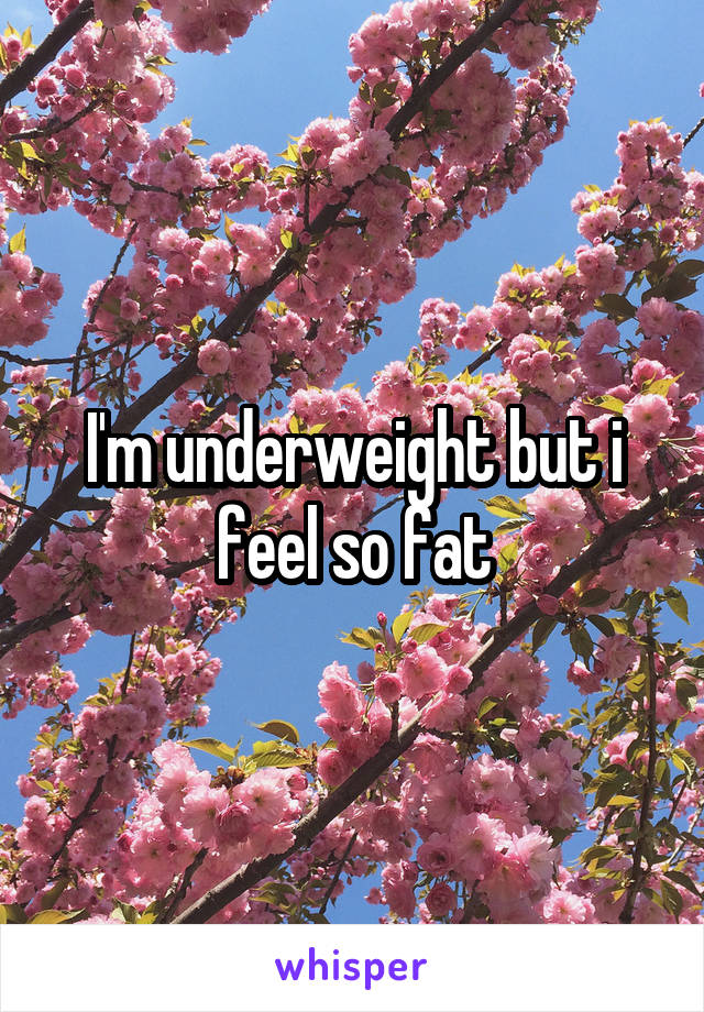 I'm underweight but i feel so fat