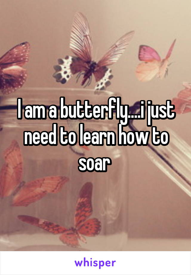 I am a butterfly....i just need to learn how to soar