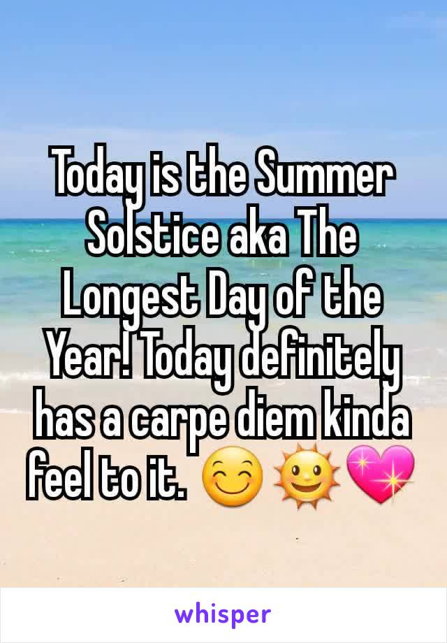 Today is the Summer Solstice aka The Longest Day of the Year! Today definitely has a carpe diem kinda feel to it. 😊🌞💖