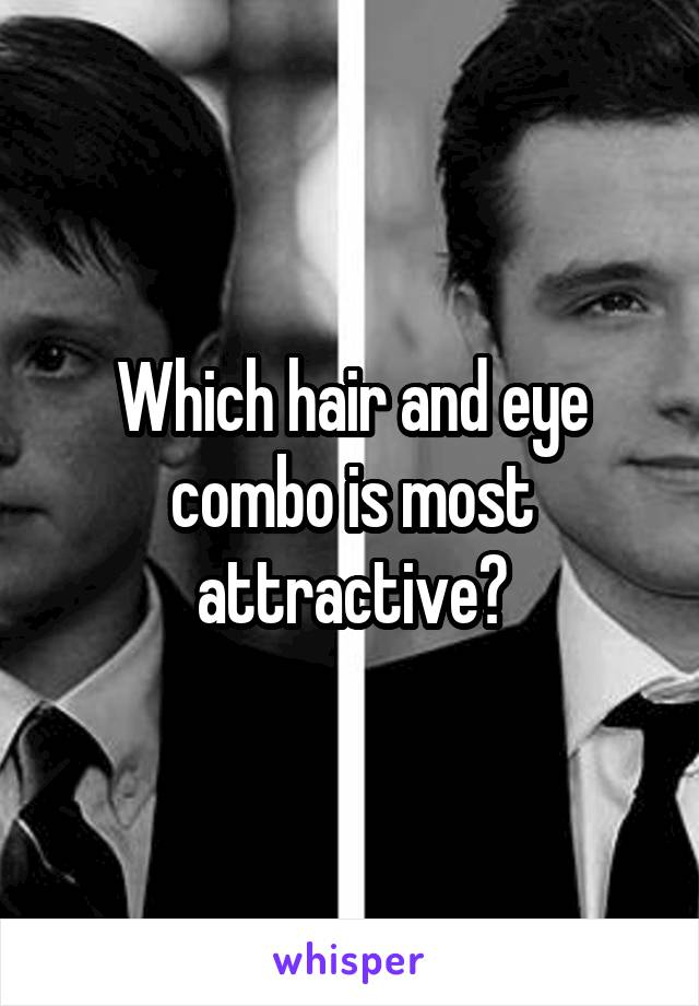 Which hair and eye combo is most attractive?