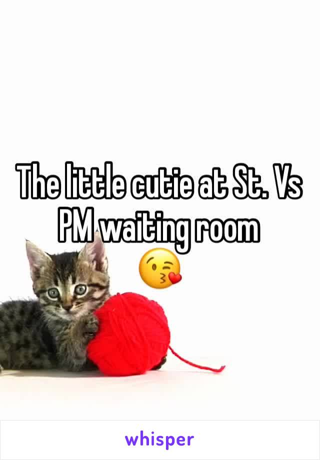 The little cutie at St. Vs  PM waiting room 😘