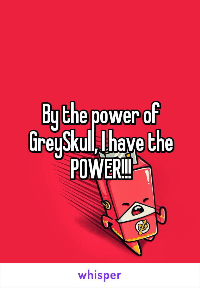 By the power of GreySkull, I have the POWER!!!
