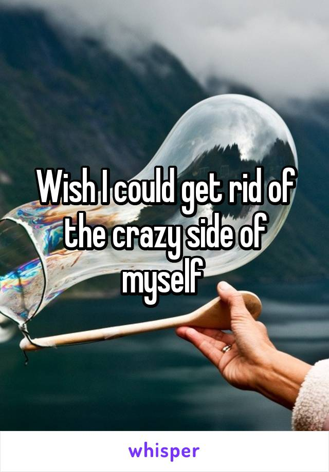 Wish I could get rid of the crazy side of myself