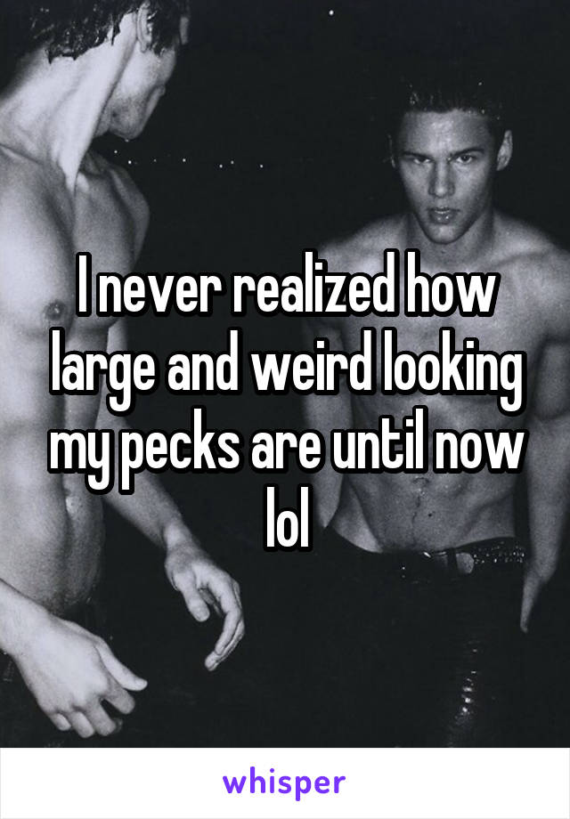 I never realized how large and weird looking my pecks are until now lol