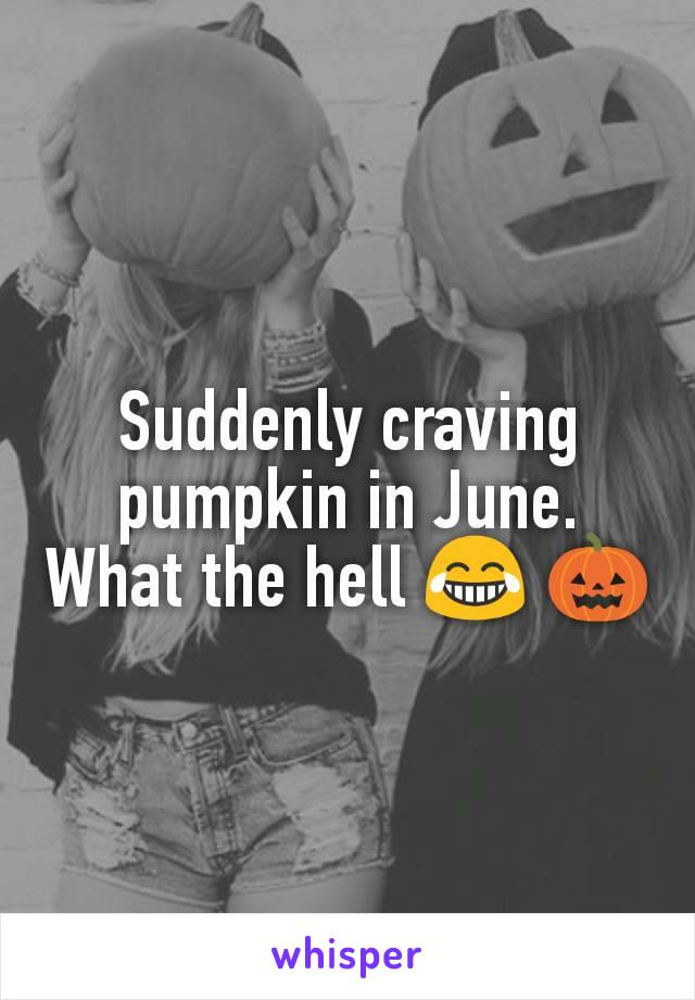Suddenly craving pumpkin in June. What the hell 😂 🎃