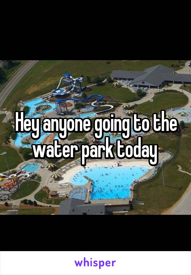 Hey anyone going to the water park today