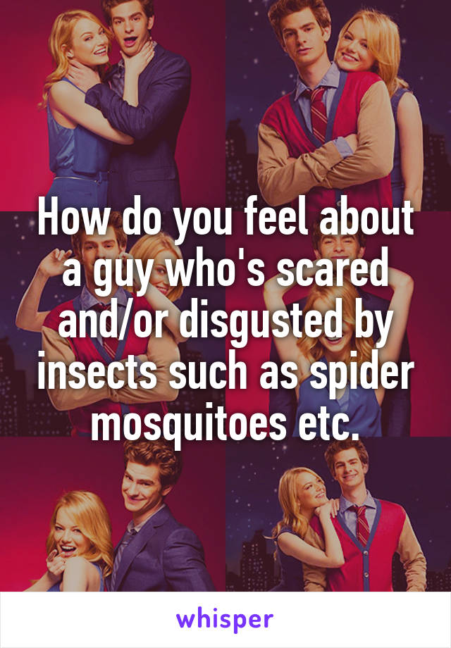 How do you feel about a guy who's scared and/or disgusted by insects such as spider mosquitoes etc.