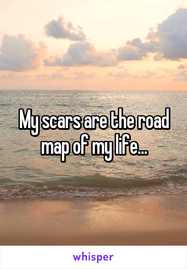 My scars are the road map of my life...