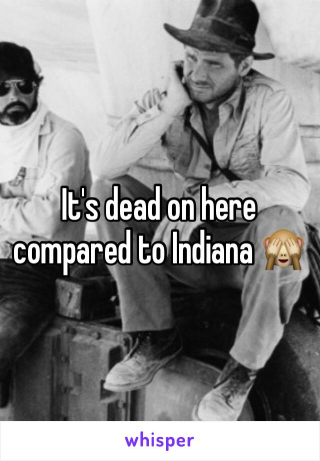 It's dead on here compared to Indiana 🙈