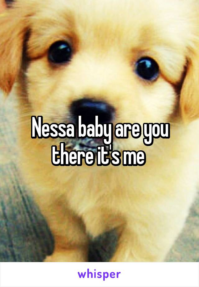 Nessa baby are you there it's me