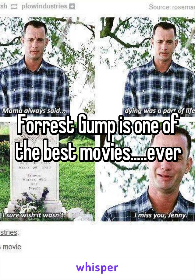 Forrest Gump is one of the best movies.....ever