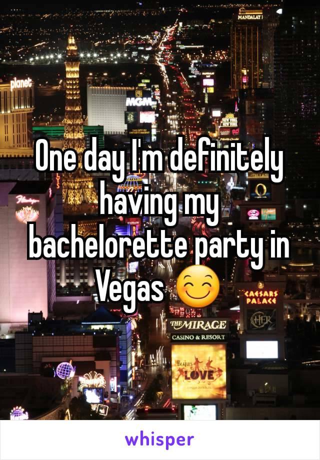 One day I'm definitely having my bachelorette party in Vegas 😊