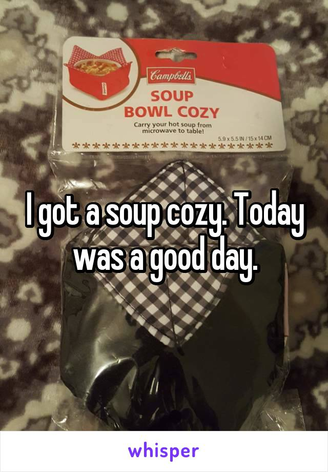 I got a soup cozy. Today was a good day.