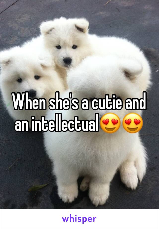 When she's a cutie and an intellectual😍😍