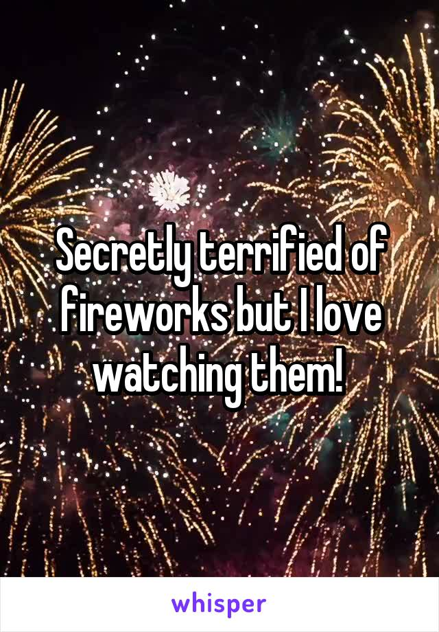 Secretly terrified of fireworks but I love watching them!