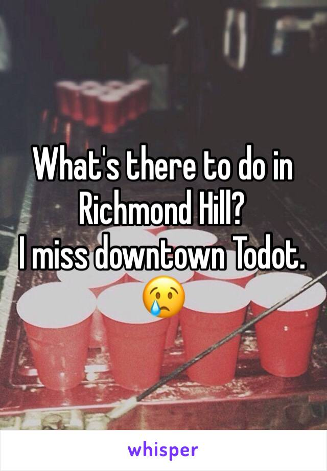 What's there to do in Richmond Hill?  I miss downtown Todot. 😢