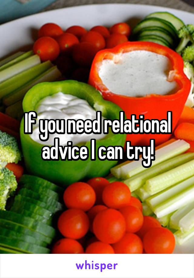 If you need relational advice I can try!