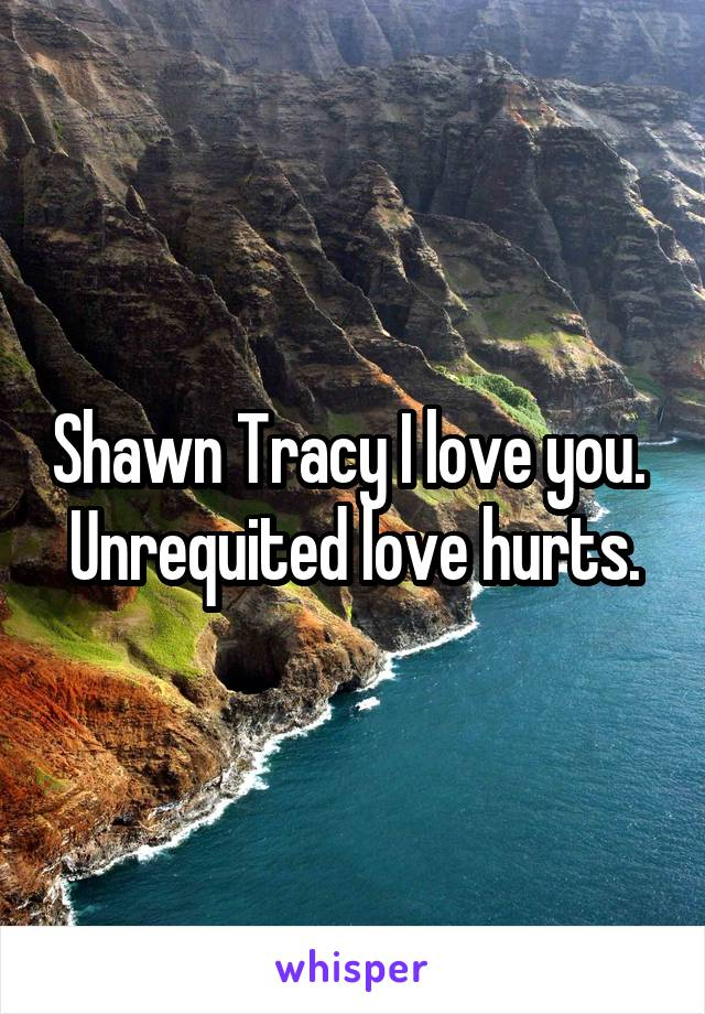 Shawn Tracy I love you.  Unrequited love hurts.