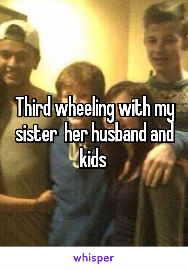 Third wheeling with my sister  her husband and kids