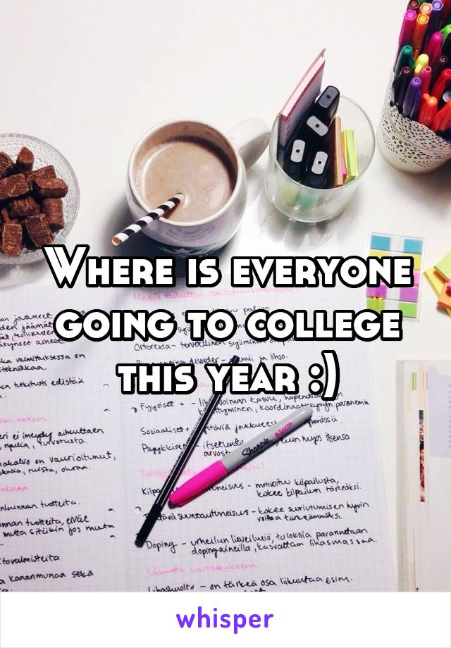 Where is everyone going to college this year :)