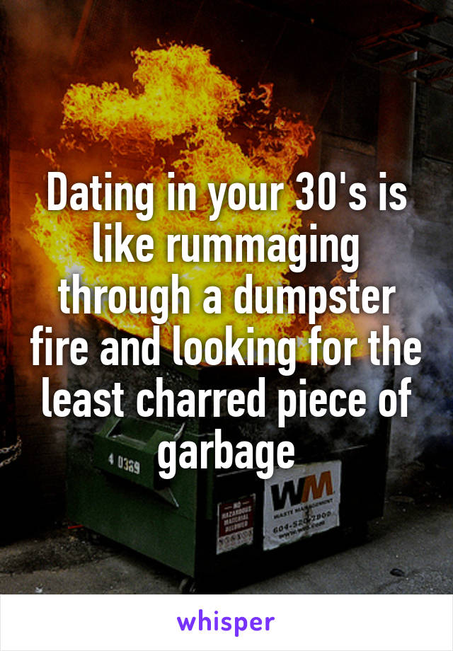Dating In Your 30s Is Like