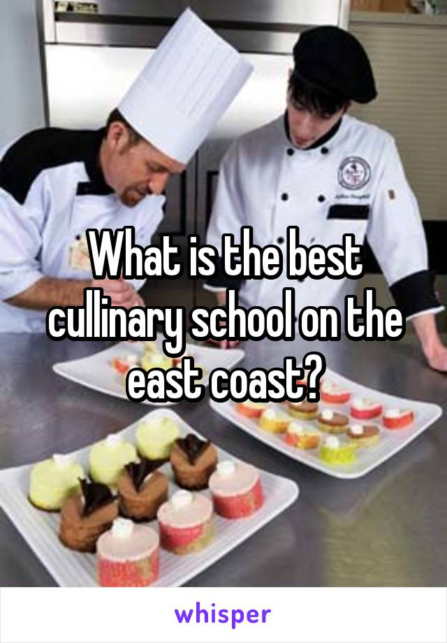 What is the best cullinary school on the east coast?