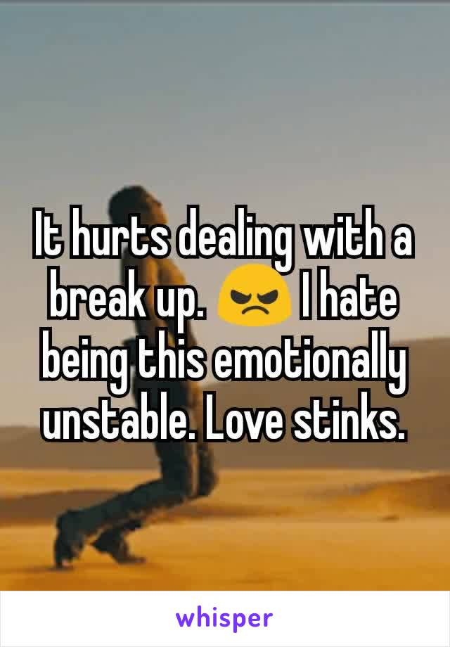 It hurts dealing with a break up. 😠 I hate being this emotionally unstable. Love stinks.
