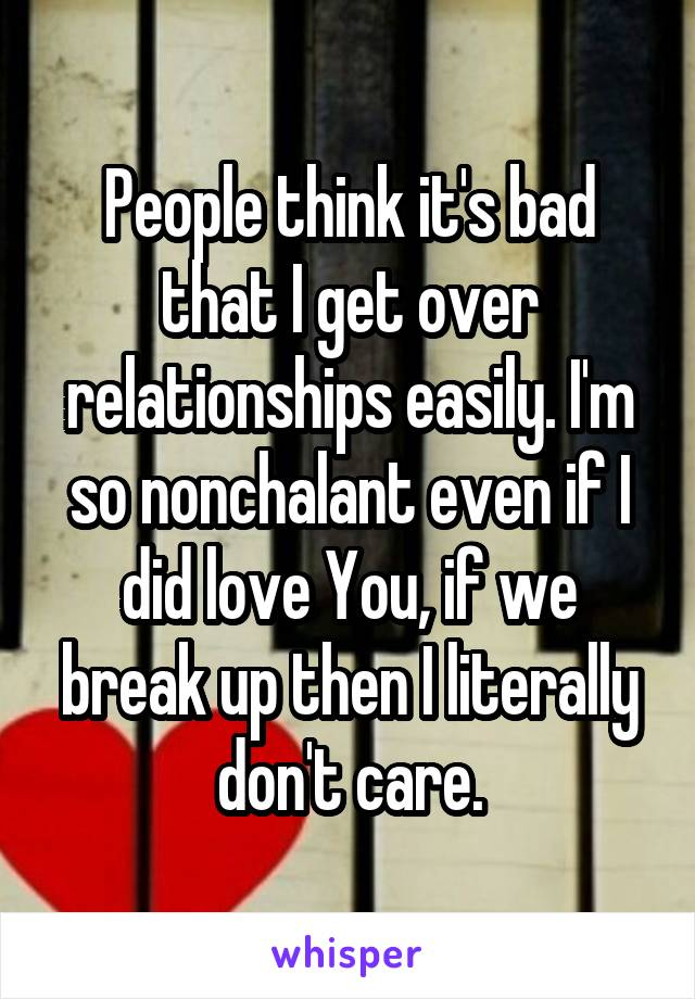 getting over a bad relationship