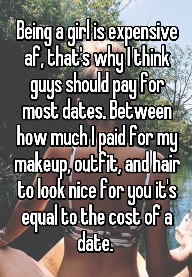 dating expensive for guys