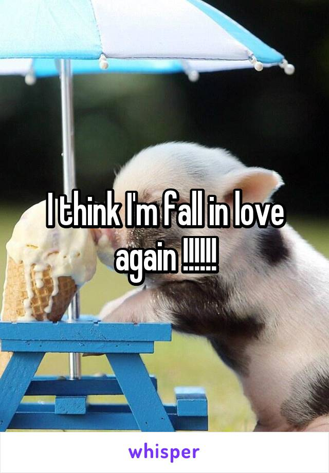 I think I'm fall in love again !!!!!!