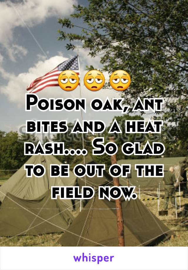 😩😩😩 Poison oak, ant bites and a heat rash.... So glad to be out of the field now.