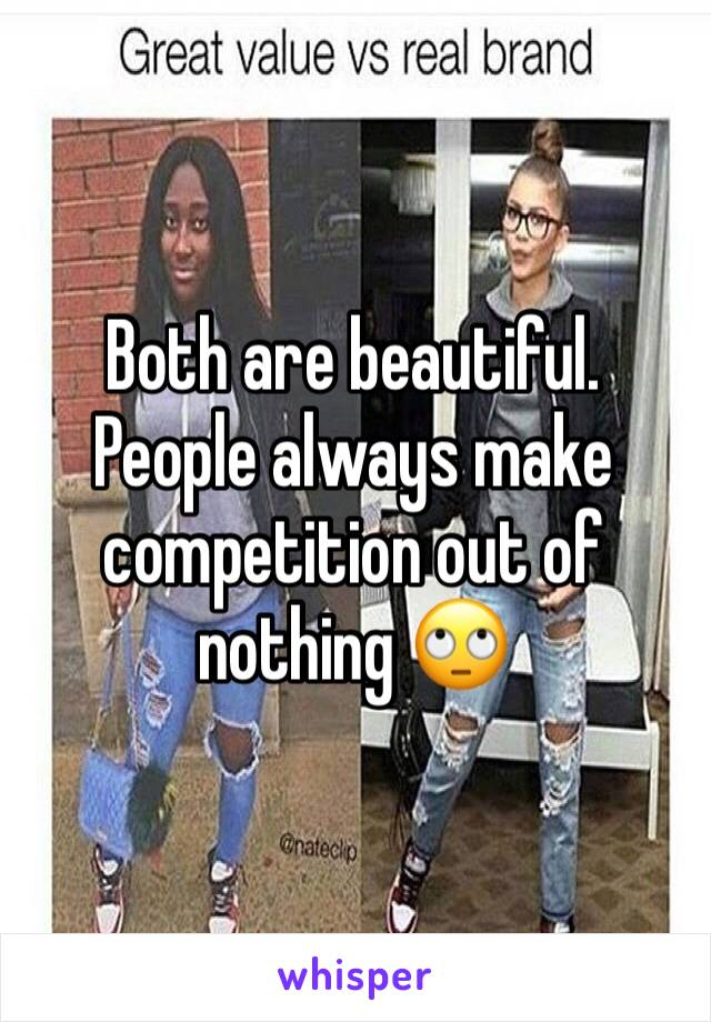 Both are beautiful. People always make competition out of nothing 🙄