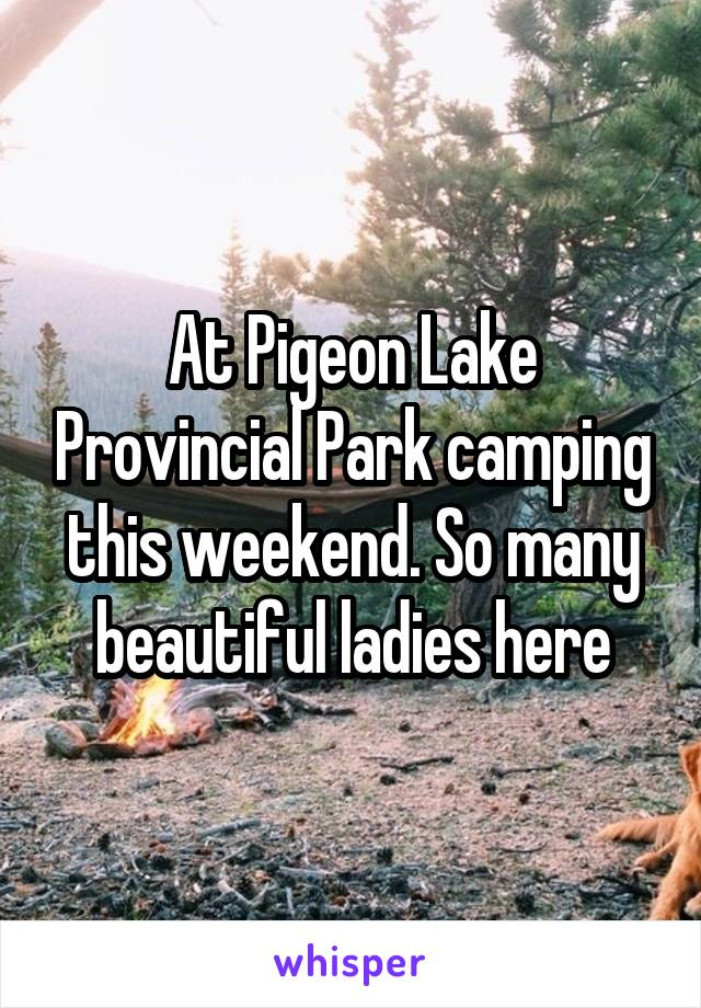 At Pigeon Lake Provincial Park camping this weekend. So many beautiful ladies here