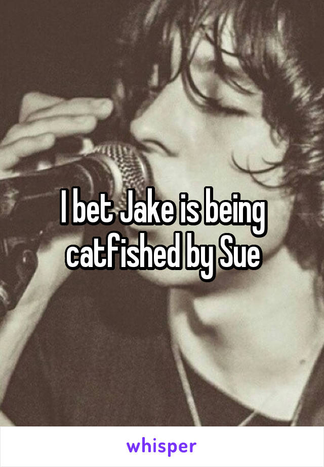I bet Jake is being catfished by Sue