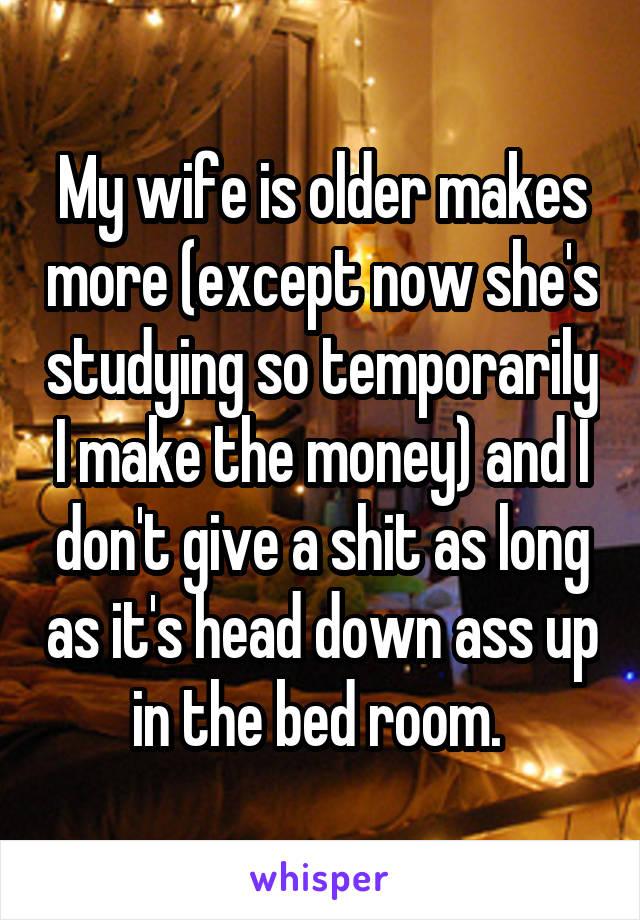 Older wife head down ass up