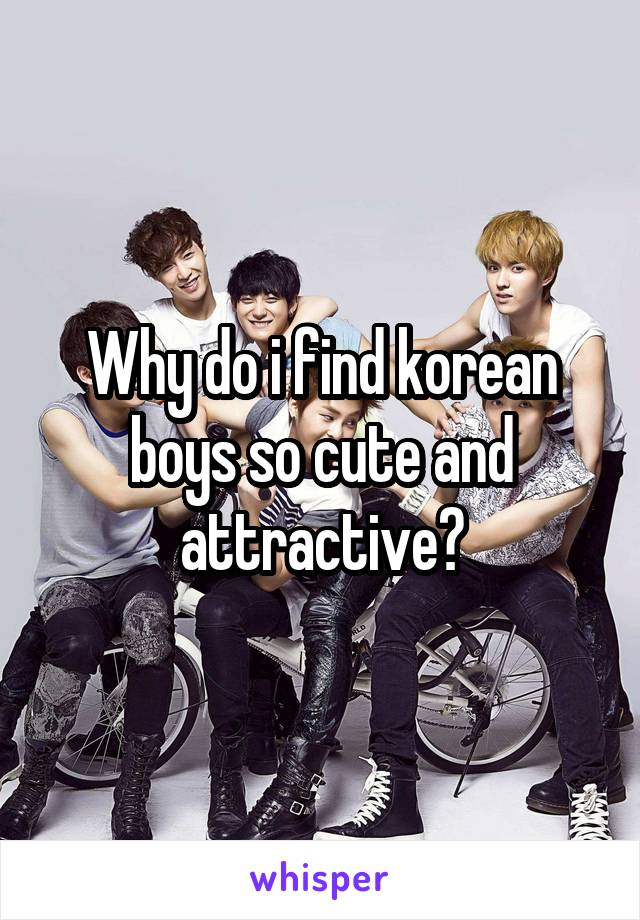 Why do i find korean boys so cute and attractive?