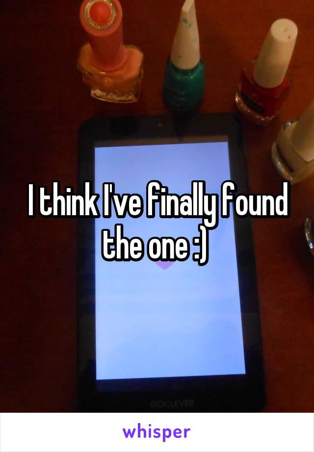 I think I've finally found the one :)