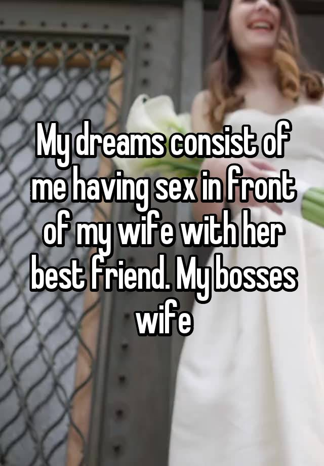 Think, wife having sex in her dreams that would