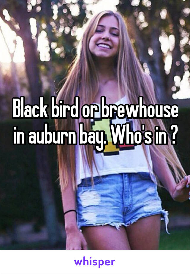 Black bird or brewhouse in auburn bay. Who's in ?