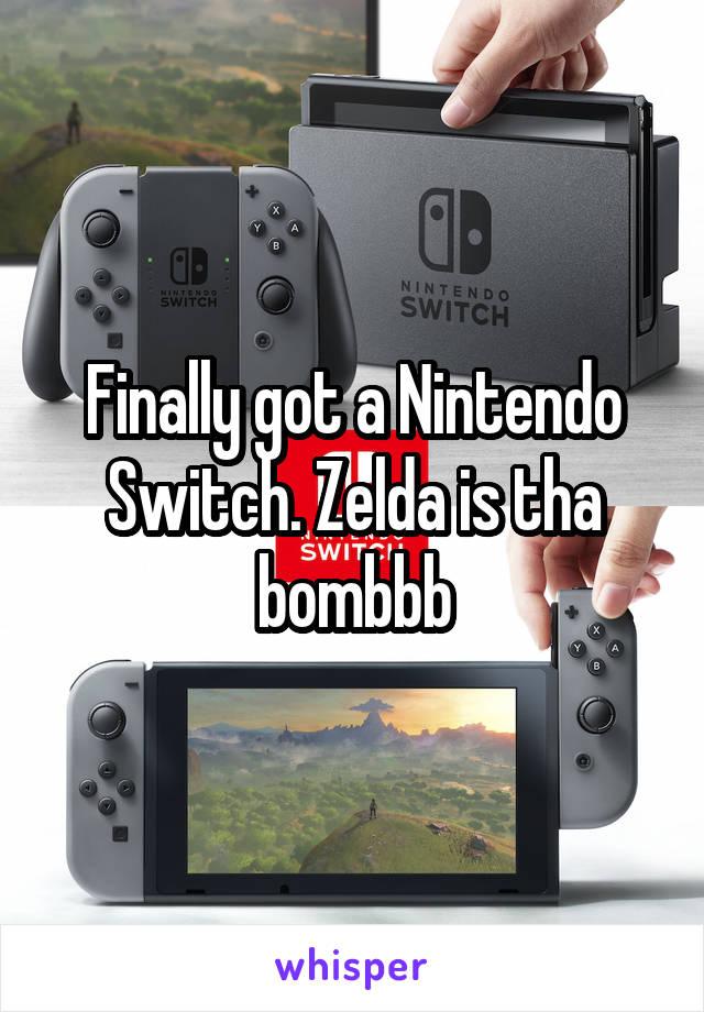 Finally got a Nintendo Switch. Zelda is tha bombbb