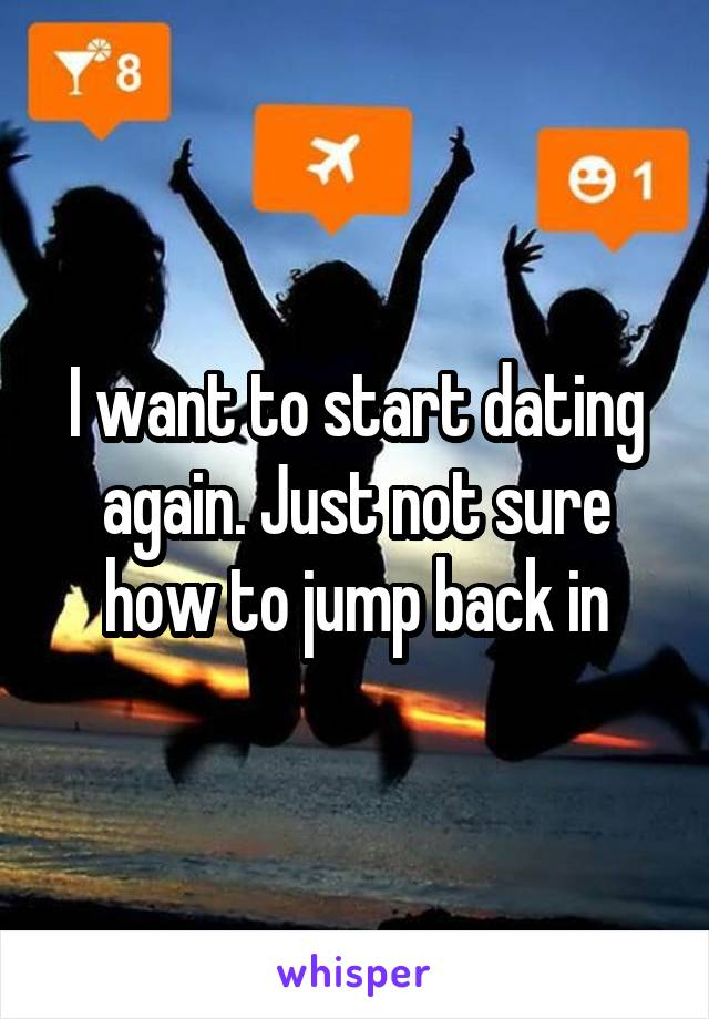 I want to start dating again. Just not sure how to jump back in