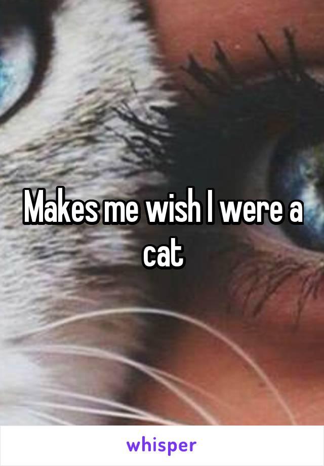 Makes me wish I were a cat