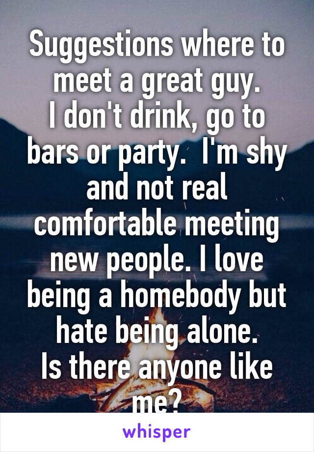 Where to meet a great guy