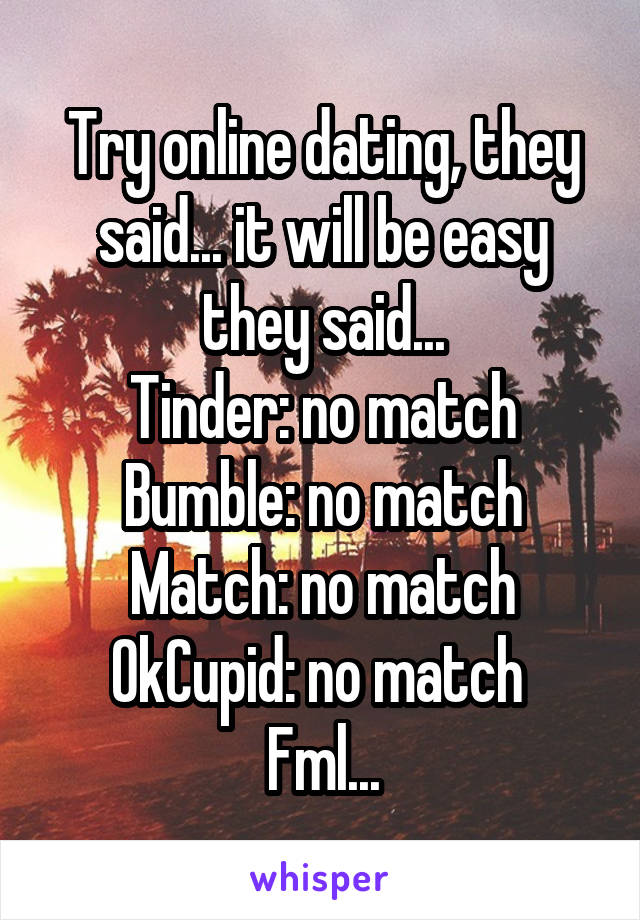 Fml online dating