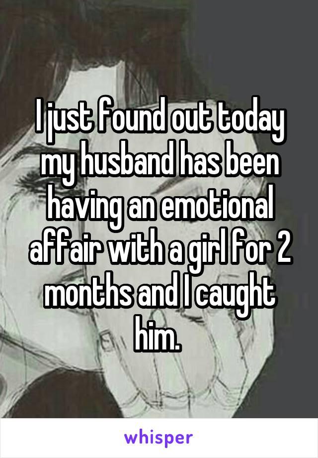 Affair emotional wife having Emotional Affair