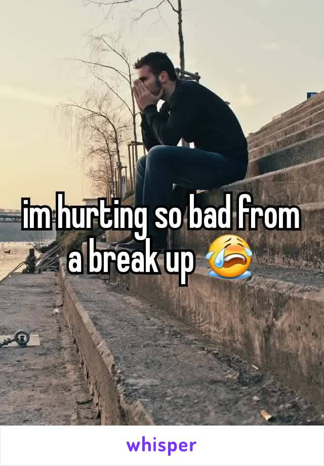 im hurting so bad from a break up 😭