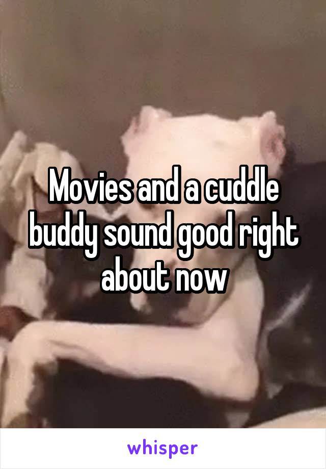 Movies and a cuddle buddy sound good right about now